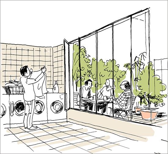 dessin de consommation collaborative