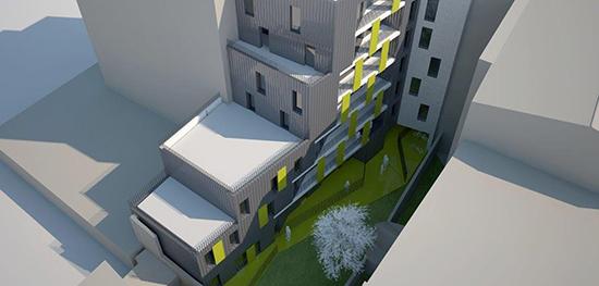 schéma d'un immeuble connecté